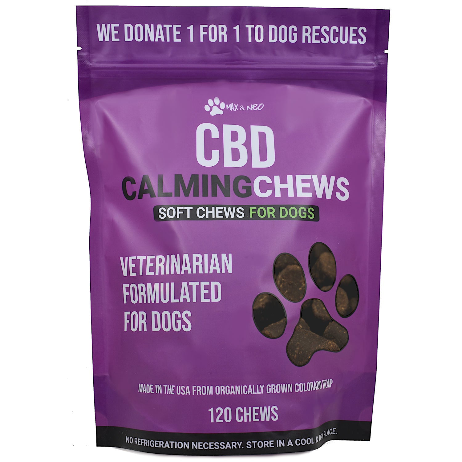 CBD Calming Dog Chew Treats - 120 Chews