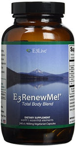 E3 Renew Me!R Total Body Blend 240ct (400 mg) 1 bottles by E3Live