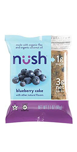 Low Carb Keto Snack Cakes (Flax-Based) - Blueberry Flavor (6 Cakes) - Gluten Free, Soy Free, Organic, No Sugar Added - Great for Ketogenic, Low-Carb, Atkins, and Low-Sugar Diets 1 Pack - 6 Cakes