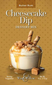 Wind and Willow Cheesecake Dip Dessert Mix (Butter Rum, 4 oz)