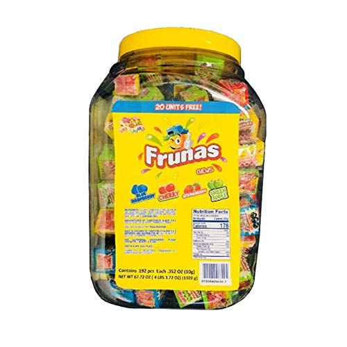 Albert's Frunas Fruit Chews Candy, 192 Count Jar