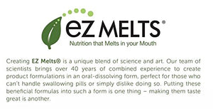 EZ Melts Folate as L-5-Methylfolate, 1,667 mcg DFE, Sublingual Vitamins, Vegan, Zero Sugar, Natural Orange Flavor, 60 Fast Dissolve Tablets