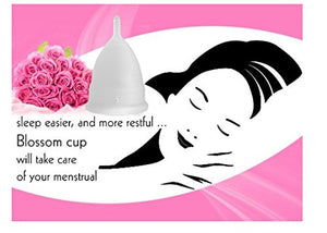 Blossom Large Clear Menstrual Cup in Reusable Menstruation Cups (Large, Clear).