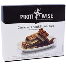 ProtiWise - Cinnamon Crunch Bars | Gluten Free Nutrition Diet Snack Bars | High Protein, Low Fat, Low Cholesterol (7/Box)