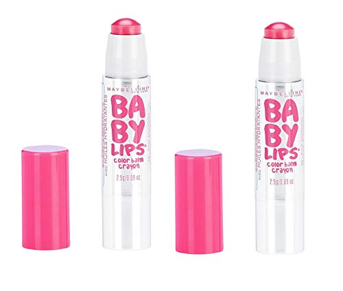 Pack of 2 Maybelline New York Baby Lips Color Balm Crayon, 35 Pink Smooch