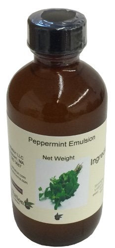 OliveNation Peppermint Emulsion - 4 ounces - Premium Quality Emulsion for Baking 4 Fl Oz