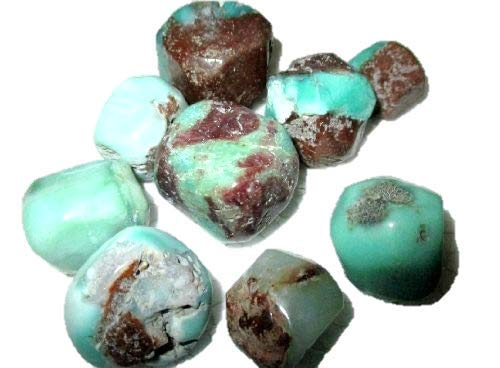Jet Chrysoprase Tumbled Stone 100 Grams Approx.75