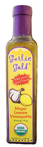 GARLIC GOLD USDA Organic Delicious Meyer Lemon & Extra Virgin Olive Oil Vinaigrette Salad Dressing and Marinade - Soy Free, Canola free, Sugar free, KETO & Paleo friendly 8.44 oz
