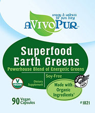 Gluten Free SUPERFOOD Earth Greens Supplements with MSM (90 Capsules) 90 Capsules