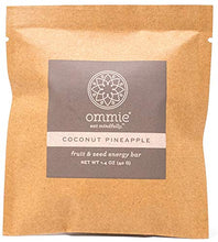 Ommie Snacks Nut-Free Energy Bar (7 Pack) -Coconut Pineapple Fruit & Seed Bar | Allergy Free: Nut Free, Gluten Free, Soy Free, Egg Free, Dairy Free | Vegan | Free of Junk: No added sugars, dates, oats Coconut Pineapple 7-pack