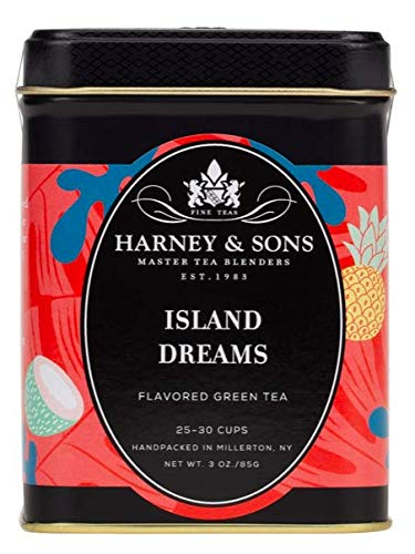 Harney & Sons Island Dreams Green Tea, Coconut, 3 Oz