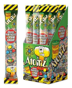Toxic Waste Atomz Sour Chewy Candy, 2.12 Ounce - 12 Count Display Box