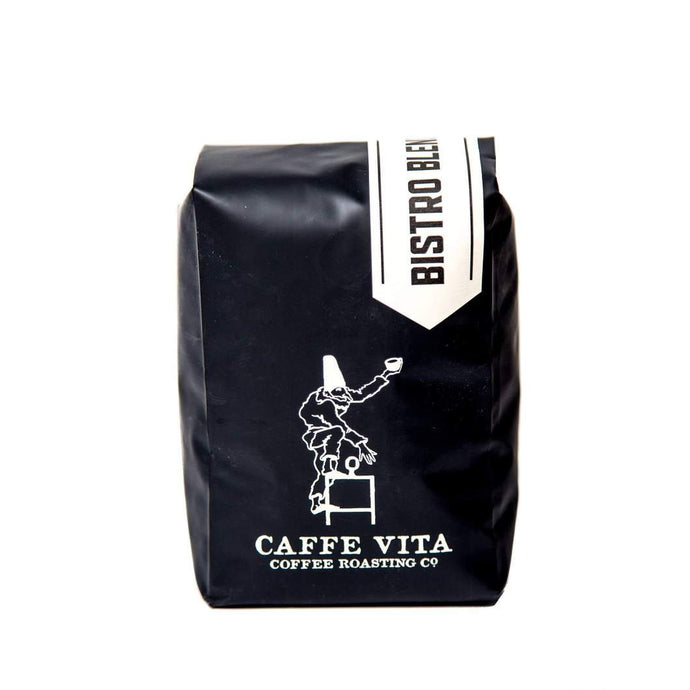 Caffe Vita Bistro Blend Whole Bean Coffee (Light-Medium), 12 oz