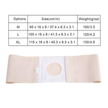 Ostomy Hernia Belt, Elastic Ostomy Hernia Belt for Colostomy Bag Abdominal Binder with Stoma Opening Navel Hernia Support, Help Relieve Pain for Incisional, Epigastric, Ventral, Inguinal Hernia(L) L