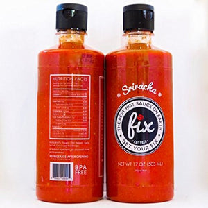 Fix Sriracha Hot Sauce, All Natural (Fix Signature Sriracha, 18 Ounce - 2 Pack) Fix Signature Sriracha