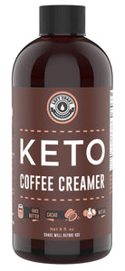 Keto Creamer with MCT Oil, Farm Fresh Ghee, Cocoa Butter, Coconut Oil 8oz [Unsweetened - Must Be Blended] | Zero Carb Keto Coffee Creamer | Keto-friendly, Sugar Free