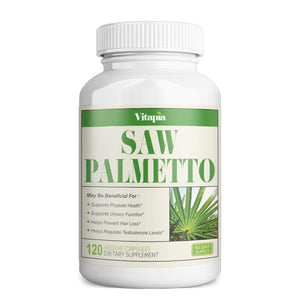 Vitapia Saw Palmetto 1000mg per Serving - 120 Veggie Capsules - Vegan and Non-GMO - Saw Palmetto Complex for Prostate Health, Healthy Urination, DHT Blocker, Hair Loss Prevention