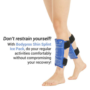 Shin Splint Ice Pack 2 Pack - Reusable Shin Cold and Hot Wrap for Shin Splints Pain Relief, Flexible Ice Pack for Runners