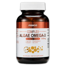 FEBICO Algae Oil DHA, Astaxanthin, Phosphatidylserine, and Non-Gmo Soy Lecithin- Vegetarian DHA Dietary Supplement- 60 Capsules,100% Nature Vegan Essential Omega-3-Prenatal Formula-No Fishy Aftertaste