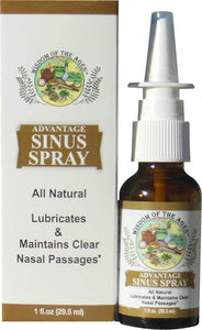 Advantage Sinus Spray Natural Cleansing & Lubricating Nasal Spray. 1 fl oz.