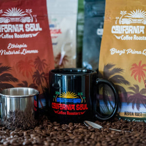 California Soul Gourmet Ground Coffee - Hawaiian Blend - Medium Roast, 12oz Bag - Premium, Fresh Roasted in Small Batches - For Coffee and Espresso Machines, French Press, Pour Overs, Cold Brew