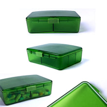 XINHOME 6 Compartment Pill Box Holds Up to 200 Tablets Gasketed & Waterproof (Green)