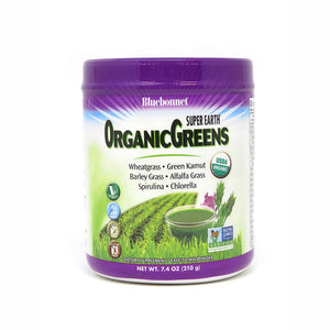 Bluebonnet Nutrition Super Earth Organic Greens, Green Powder Superfood, 7.4 Ounce