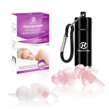 [2019 New Design] Sleeping Ear Plugs, Hearprotek 2 Pairs Ear Plugs (32db & 30db) Ultra Soft Noise Reduction and Hearing Protection earplugs for Side Sleepers, snoring, Travel, Working, Safety (Pink) Pink