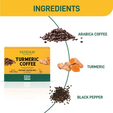 VAHDAM, Turmeric + Coffee Superfood Elixir Mix - 10 Servings | Instant Coffee Mix with Turmeric | Arabica Coffee blended with Active Turmeric | Immune Support | Vegan, Keto- Friendly, NON- GMO