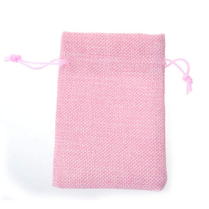 Tvoip 30Pack Burlap Bags with Drawstring Gift Bags Jewelry Pouch for Wedding Party and DIY Craft (Pink, 4 x 5.5 Inch) Pink 10X14cm