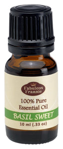 Basil 100% Pure, Undiluted Essential Oil Therapeutic Grade - 10 ml. Great for Aromatherapy!