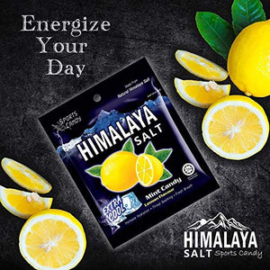 Salt And Lemon Candy - Made from Natural Himalaya Salt - Halal Candy Lemon (Pack of 24) Pack of 24