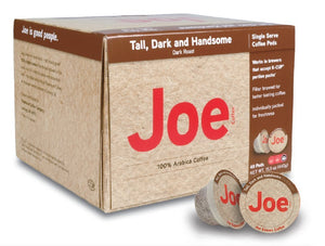 Joe Knows Coffee, Tall Dark and Handsome, Single Serve Coffee Pods, 40 count, Rich, Bold Roast, Compatible with Keurig 2.0 brewers 40 Count (Pack of 1)