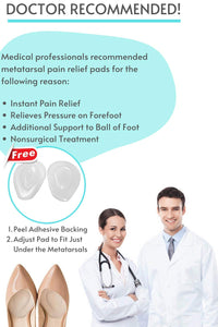 Metatarsal Pads-Ball of Metatarsal Foot Pads for Pain Relief | Ball of Foot Cushions for Women & Men | Foot Pads for Ball of Feet Women, Metatarsalgia Insoles for Women, Mortons Neuroma Foot Pads