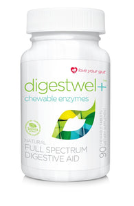 Avisae Chewable Enzymes_90ct_Love your gut! Avisae OptimALL Nutrition digestwel+ chewable enzymes is a unique formula of supplementary enzymes that helps your body's gastrointestinal tract efficiently