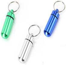 Waterproof Aluminum Pill Box Case Bottle Cache Drug Holder Keychain Container (3pcs) 3