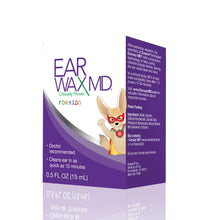 Earwax MD for Kids, Ear Wax Removal Kit and Ear Cleaning Tool, Includes Ear Wax Dissolving Drops and Rinsing Bulb
