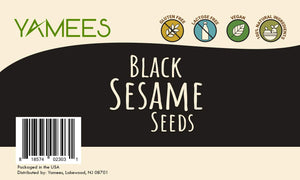 Yamees Black Sesame Seeds – Raw, Non-GMO, Vegan – Bulk Spices – 2 Pack of 14 Ounce Each 2pk - 28 Ounce