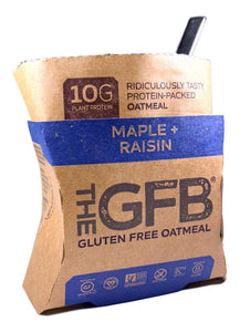 The GFB Protein Oatmeal Cup (Pop-up), Maple Raisin, 2 Ounce (Pack of 6), Gluten Free, Non GMO 6 Count