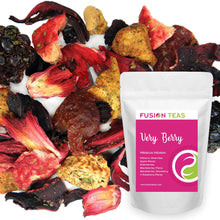 Very Berry Hibiscus Herbal Fruit Tea - Caffeine Free Loose Leaf Bulk Berries Herbs and Flowers - 5 Oz Pouch Very Berry Hibiscus 5 Ounce