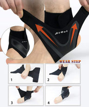 HiRui Ankle Brace Ankle Support Ankle Wrap for Running, Arthritis, Pain Relief, Sprains, Sports Injuries and Recovery, Ultra-Thin Breathable Neoprene Ankle Compression Brace (Left Foot, L) Left Foot