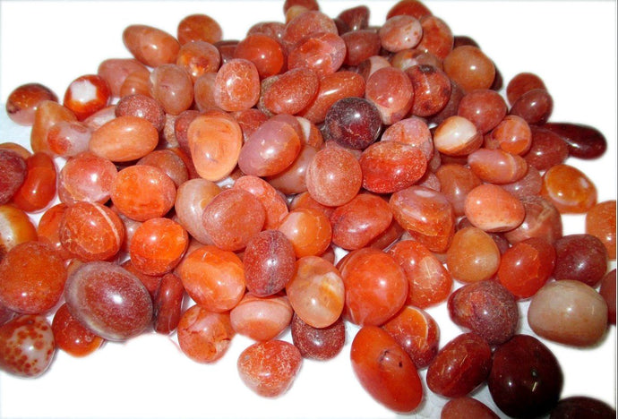 Wow Carnelian Tumbled Stone 100 Grams Genuine A Grade Approx. 0.75