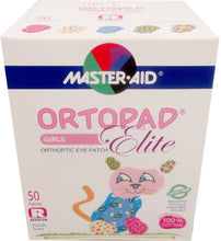 Ortopad Elite Girls Eye Patches, Glitter Accents, 50 Adhesive Patches, Regular Size, Latex and Preservative Free, for Treatment of Amblyopia
