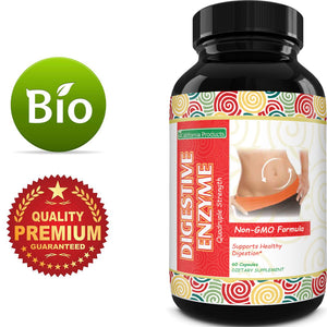 Digestive Enzyme Supplements for Gut Health - Pancreatin Digestive Enzymes for Digestion Upset Stomach Relief and Leaky Gut Repair - Pure Digestive Enzymes Digestion Supplement for Women and Men