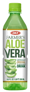Farmer's Aloe Vera Variety Pack - Original, Mango, Coco, Fresa/Strawberry, Pina/Pineapple Drinks, 16.9 Fl Oz (Pack of 10, Total of 169 Oz)