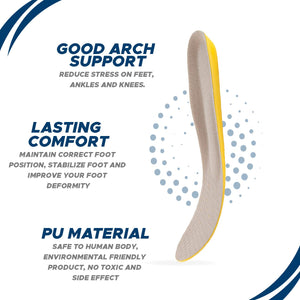 Happy Feet Arch Support Insoles - Plantar Fasciitis Support - Gel Orthotic Inserts for Women (8-12) 8-12