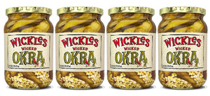 Sims Foods, Wickles Wicked Okra, 16 OZ (Pack of 4)