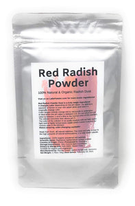 Red Radish Powder Dust | Organic, natural & watersoluble food dye | 1.76oz/50g - Amazing in the kitchen or for cocktails! Changes color to orange, red, purple, aubergine and blue