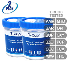 MiCare [2pk] - 12-Panel Multi Drug Test Cup (AMP/BAR/BUP/BZO/COC/MDMA/MTD/OPI/OXY/PCP/TCA/THC) #MI-TDOA-3124 2 Pack