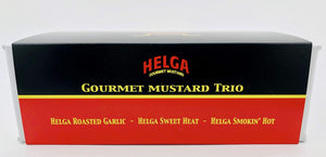 Gourmet Mustard 3 Flavor Variety Pack by Helga Fine Foods | Perfect for Cooking, Baking, Charcuterie, Dips, Gifts, and More!